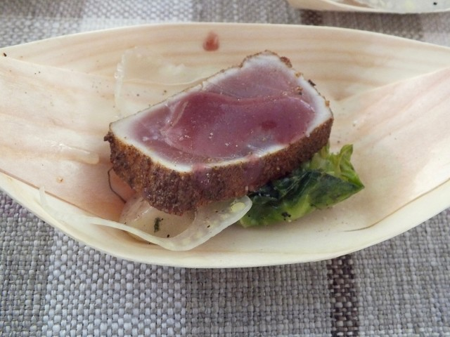 Seared Tuna from Pelican Hill Grill. Photo by Ed Simon for The Los Angeles Beat