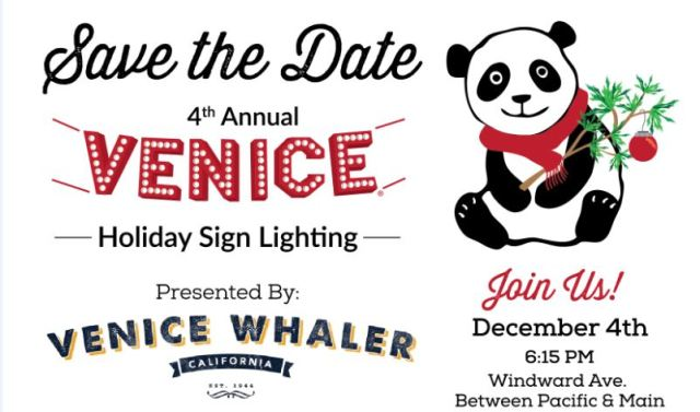 VW - Save-the-Date Venice Sign Lighting - 2015