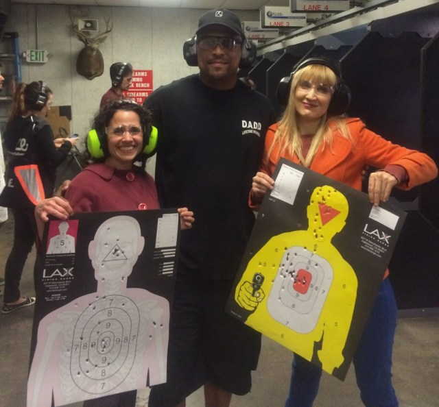 Erin, Levon and me with our final targets