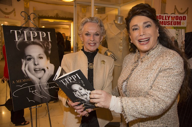 Tippi Hedren and Hollywood Museum Founder and President Donelle Dadigan; Photo Courtesy of Bill Dow Photography
