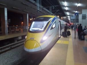 The new train that runs the Gemas-KL line.