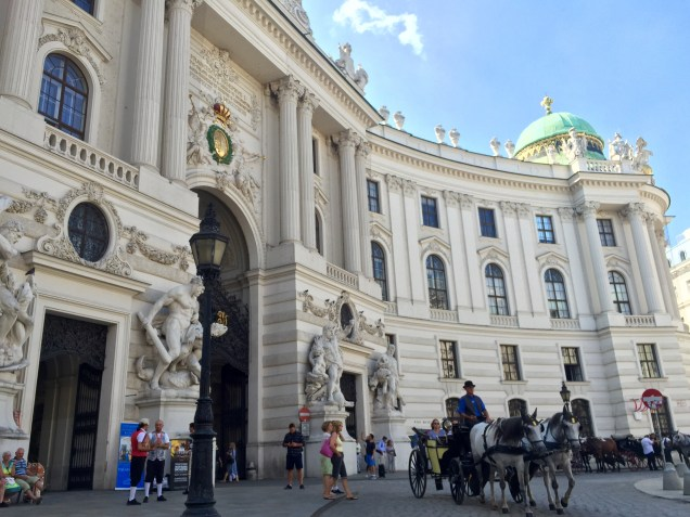 The entrance to Hofburg Palace