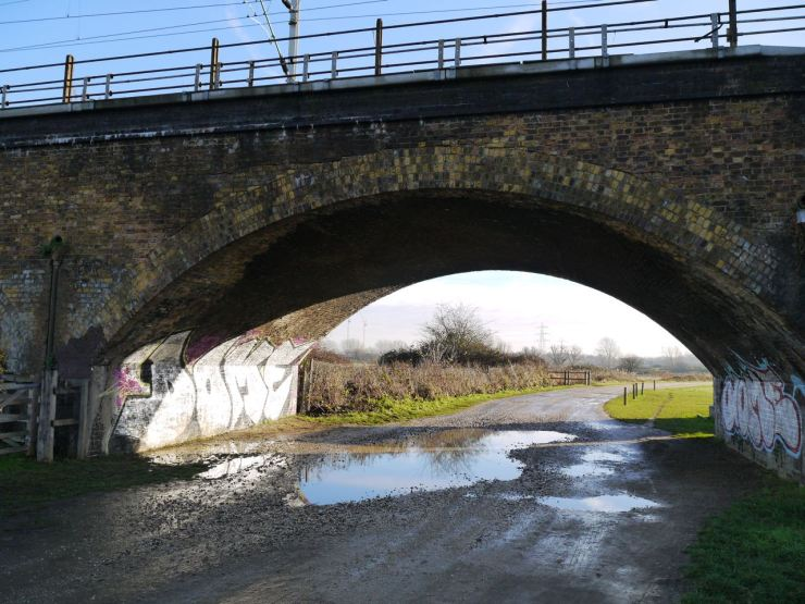 The A.V. Roe railway arch, Walthamstow Marshes