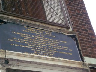 Eton Manor plaque