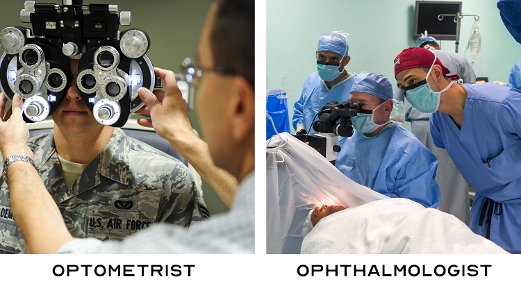 Difference Between an Optometrist and Ophthalmologist