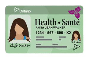 Sample OHIP card