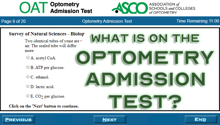 What Is On The Optometry Admission Test Featured