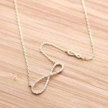 girlsluv.it - unbalanced infinity necklace with crystals