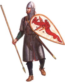 Anglo-Saxon huscarle wearing mail coat by Gerry Embleton