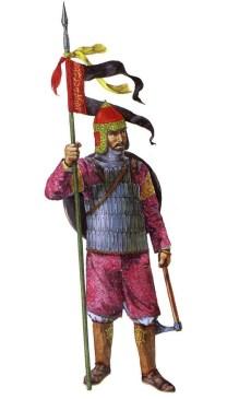 christa hook showing a persian muslim cavalryman of the Ayyubid dynasty during the Sixth Crusade.