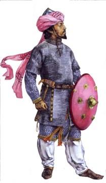 christa hook showing an arab muslim cavalryman of the Ayyubid dynasty during the Ayyubid-Crusader War or The Third Crusade