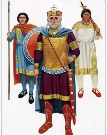 byzantine emperor Basil II with his bodyguard.
