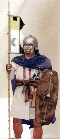Ethiopian Warrior of the Aksumite Empire in the 5th century AD.