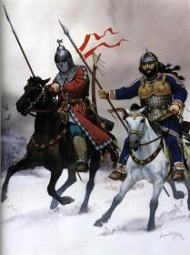 Guerreros ávaro y búlgaro, Europa Oriental, siglo VIII d.C.