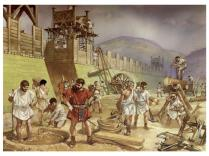 Legionary building a strong border, c. 120 dC 120 AD