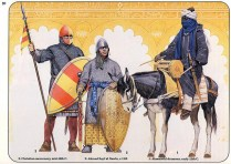 spanish muslim nobleman a spanish christian mercenary and african muslim drummer of the 12th century almoravid dynasty