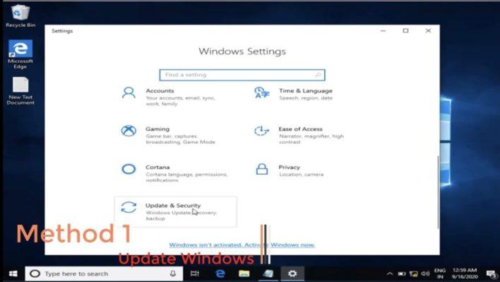Your start menu isn't working error in windows 10
