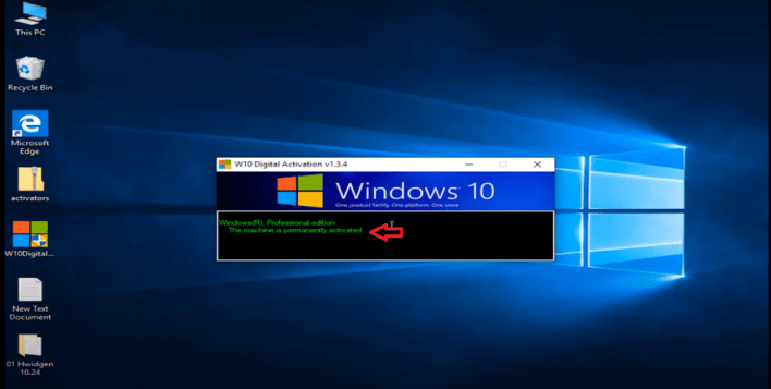 Permanently activated windows 10