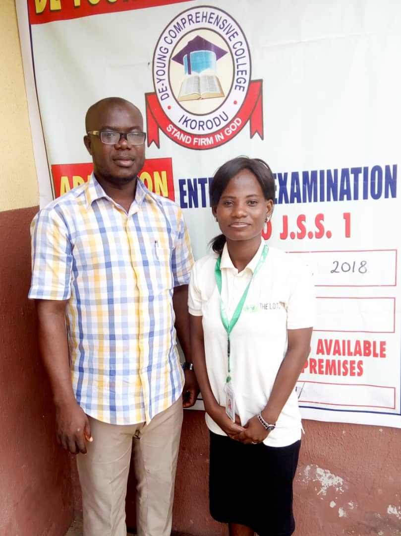 Program Manager Ajibola with the VP Academics
