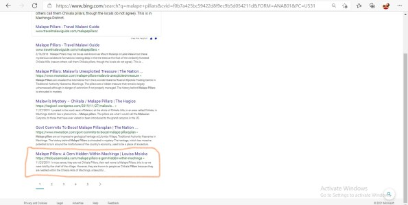 First page rank for Malape Pillars under search engine optimization