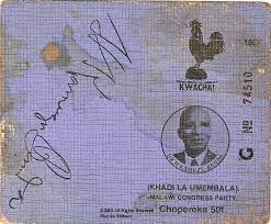 Jehovah's Witness, Party Card in Malawi
