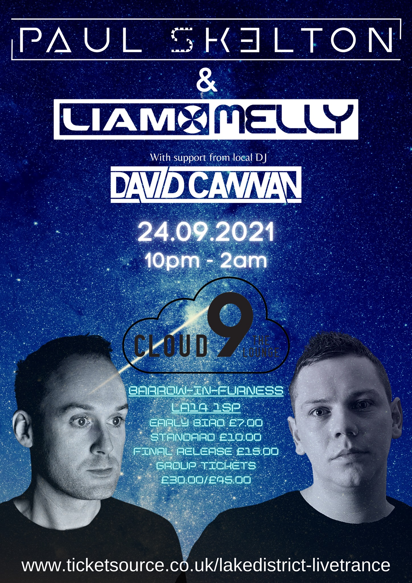 Live Trance With Paul Skelton And Liam Melly