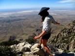 Exploring the fossil garden. Guadalupe Peak, TX.