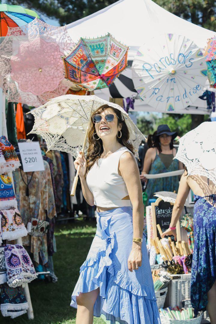 Kristin Reveles at Ojai Wine Festival