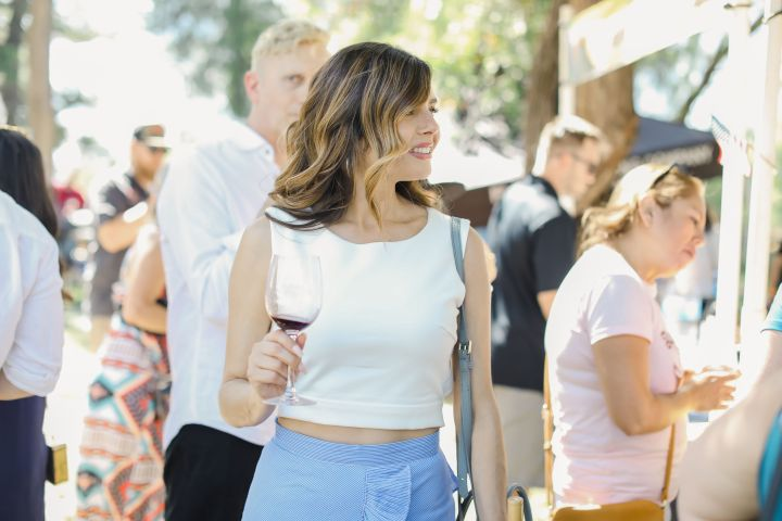 Kristin Reveles at the Ojai Wine Festival