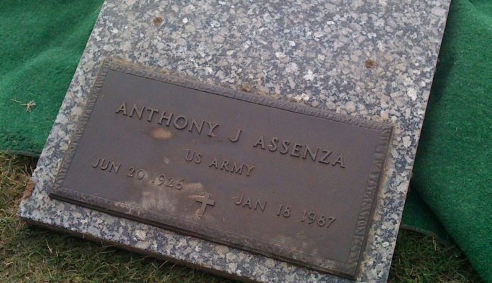 My Nana is buried right above him in the same grave.