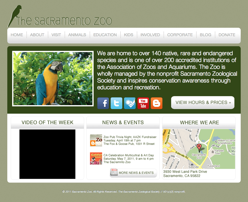 2011 Sac Zoo Redesign