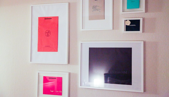 Luxury Shopping Bag Gallery Wall #thelovelygeek