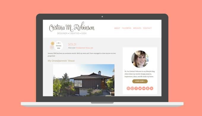 CristinaRobinson.net 2014 Design