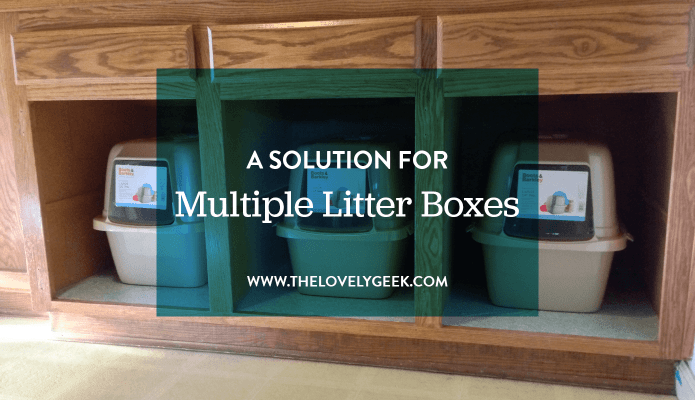 A Solution for Multiple Litter Boxes #pets #cats #thelovelygeek