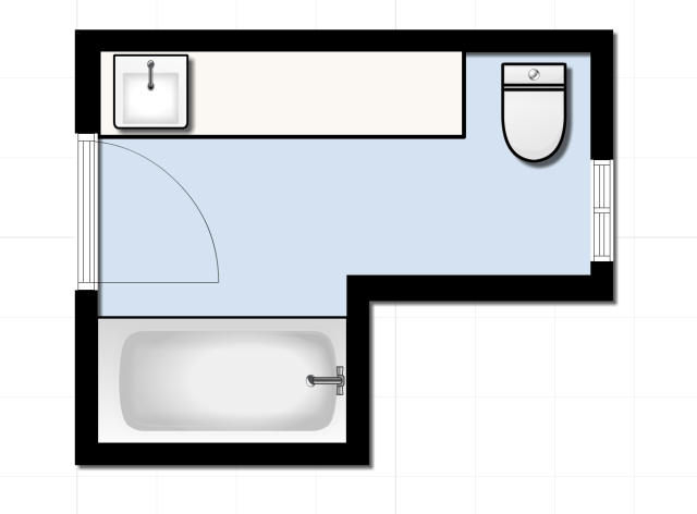 Guest Bathroom Floorplan