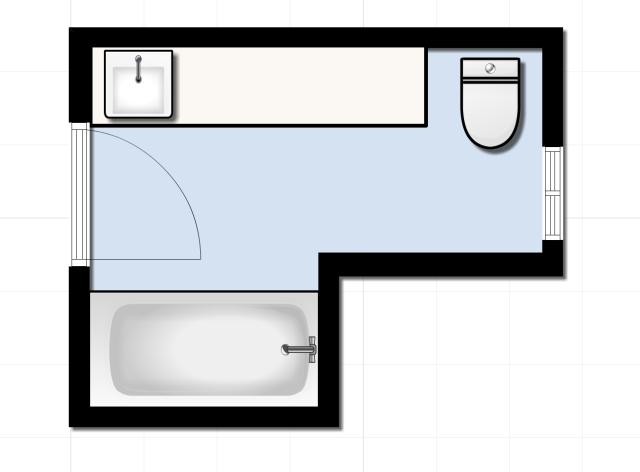 Guest Bathroom Floorplan