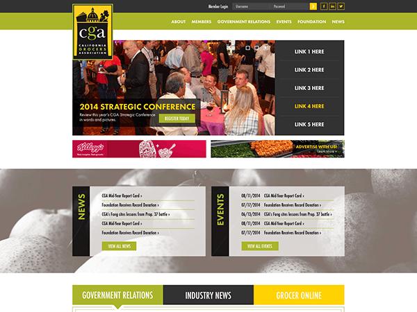 Screenshot of the new CGA website!