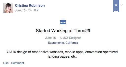 Started working at Three29