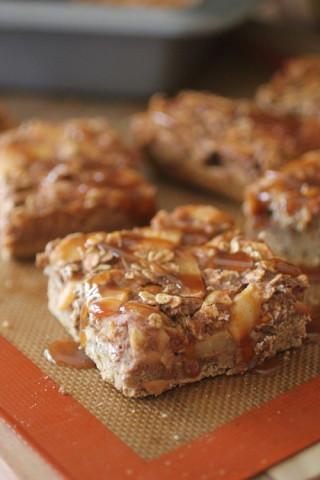 Apple Crumble Pie Bars #dashingdish