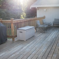 Back Deck at my current house #thelovelygeek