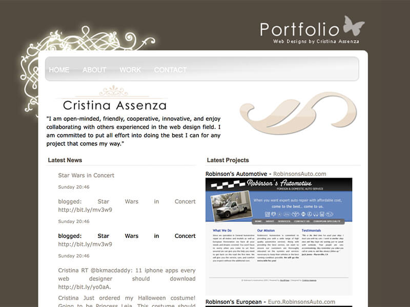 My very first portfolio site.