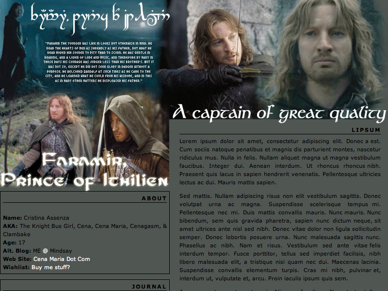 My very first LiveJournal layout