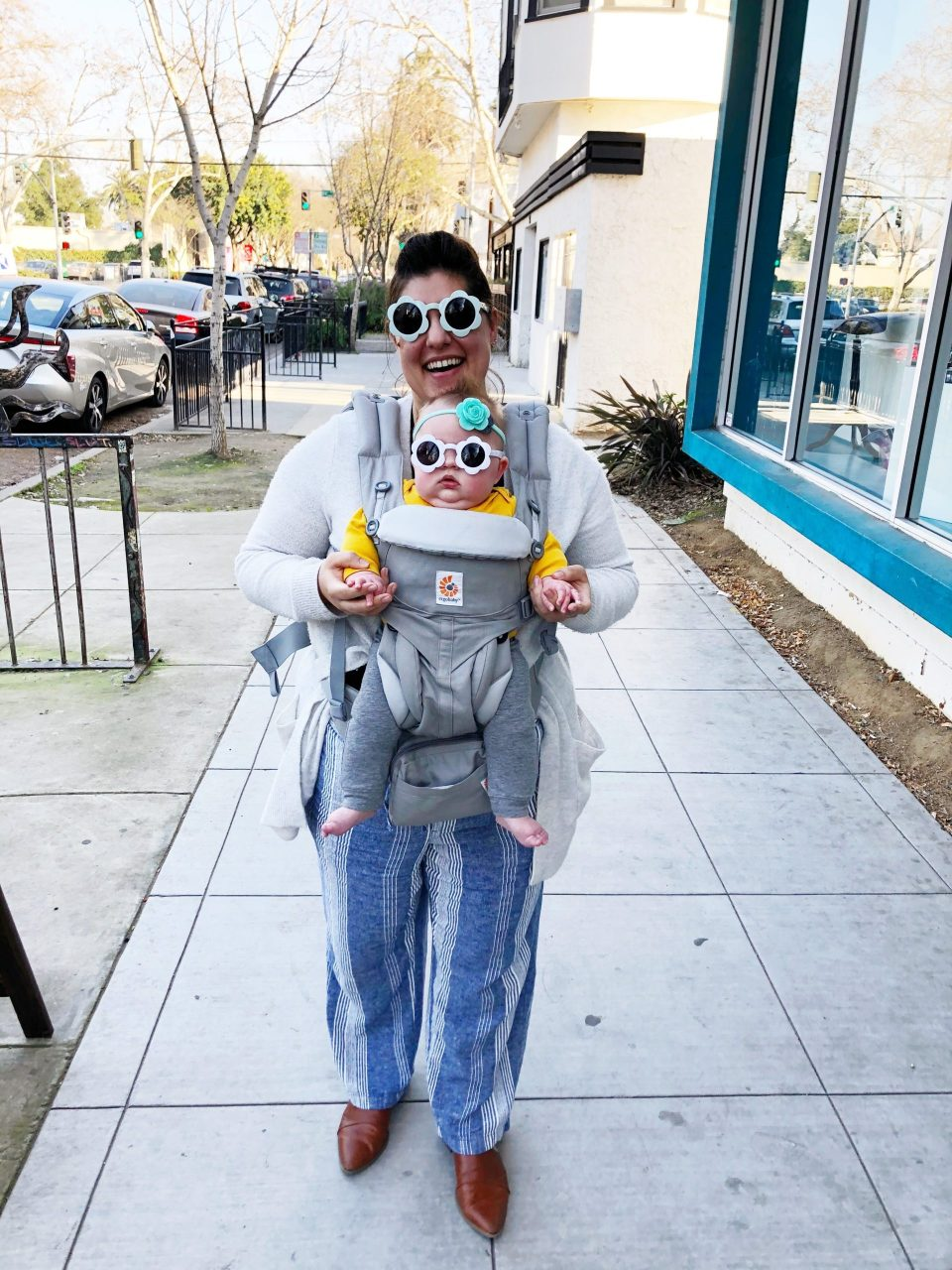 mama and baby wearing matching out fresh sunnies