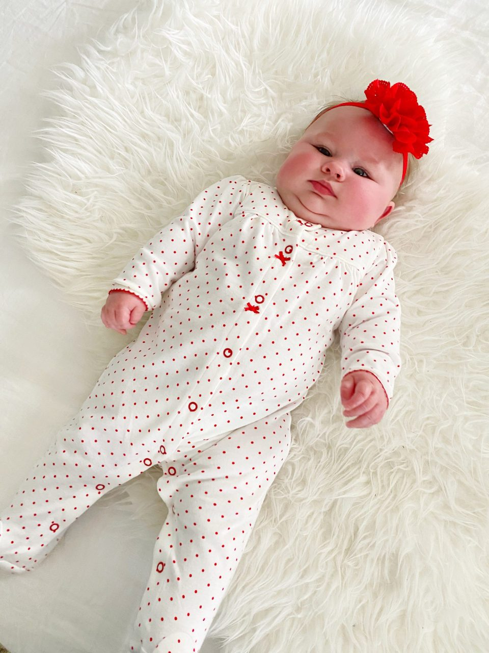 Lily in her Vday PJs