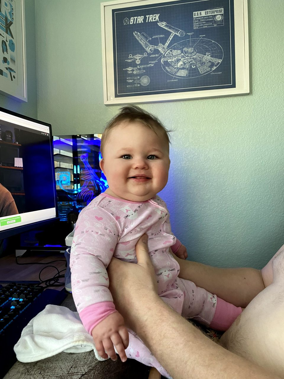 Lily hanging with Daddy
