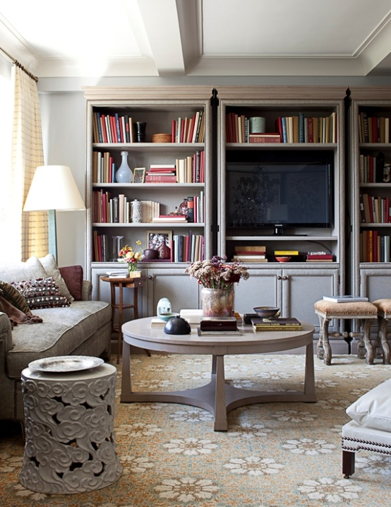 Inspiration TV BookshelfBuilt In The Lovely Lifestyle