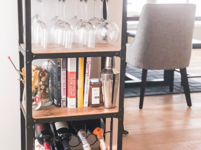Find a way to display glasses and dishes that can double as decor