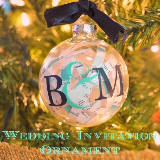 Wedding Invitation Christmas Ornament The Love Nerds