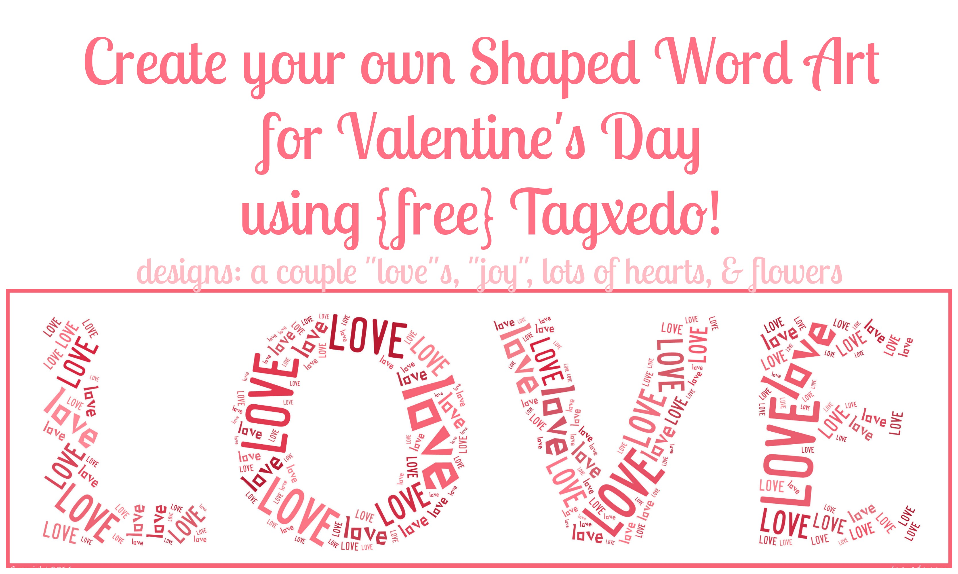 Free Shaped Word Art Online Valentines Day Edition