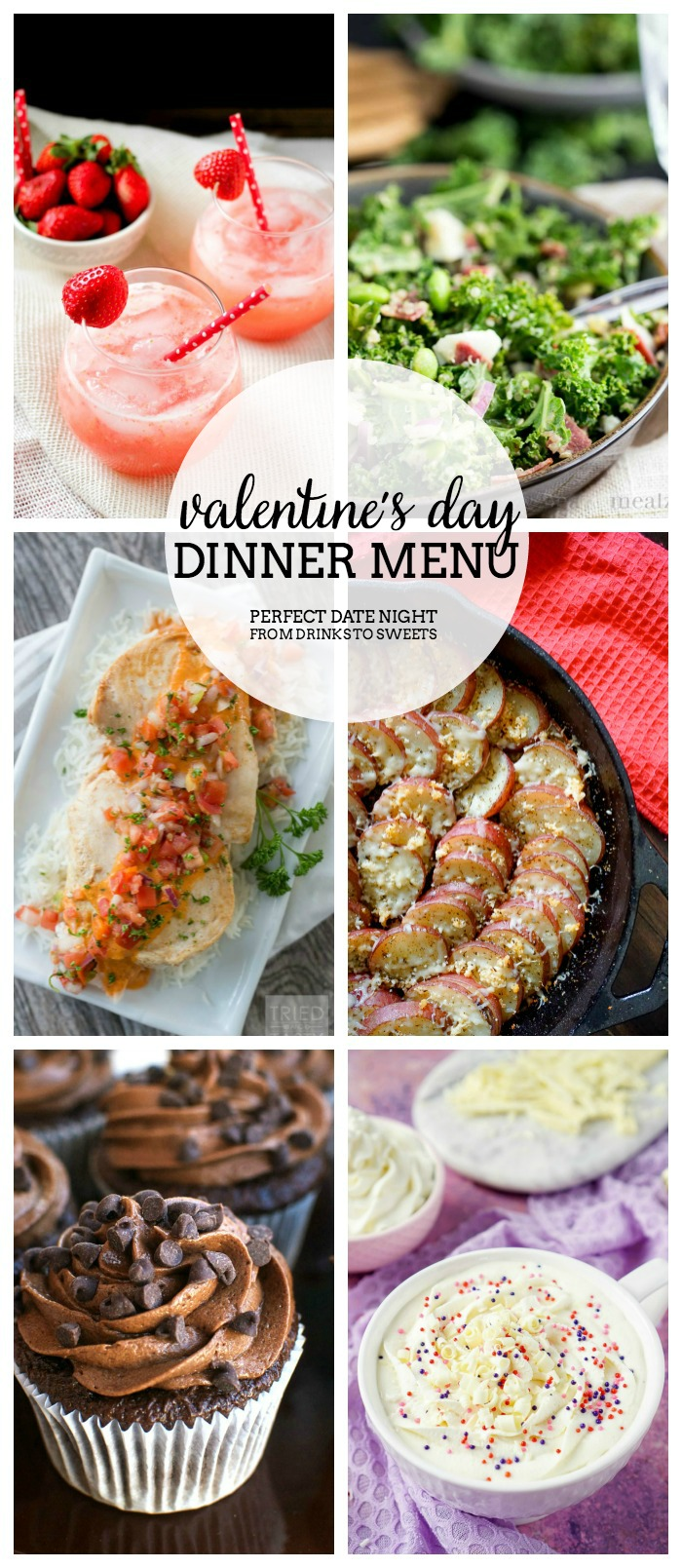 Valentine's Day Dinner Menu - We have put together the perfect date night dinner at home, from cocktails and salad to main course and dessert!